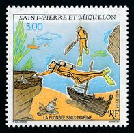ST-PIERRE ET MIQUELON 1993 - Yv. 574 **   Faciale= 0,76 EUR - Sport : Plongée Sous-marine  ..Réf.SPM12006 - Neufs