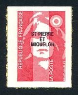 ST-PIERRE ET MIQUELON 1993 - Yv. 590 ** Faciale= 0,43 EUR - Mar.Bicent. Rouge (val. Perm.) De Carnet  ..Réf.SPM12026 - Neufs
