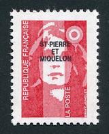ST-PIERRE ET MIQUELON 1993 - Yv. 578 ** Faciale= 0,43 EUR - Mar.Bicentenaire Rouge (val. Perm.) Avec Surch. Réf.SPM12012 - Neufs