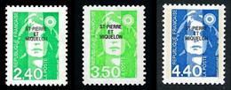 ST-PIERRE ET MIQUELON 1993 - Yv. 587 588 Et 589 **   Faciale= 1,57 EUR - Mar.Bicentenaire (3 Val.)  ..Réf.SPM12025 - Neufs