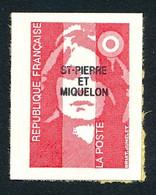 ST-PIERRE ET MIQUELON 1993 - Yv. 590 ** Faciale= 0,43 EUR - Mar.Bicent. Rouge (val. Perm.) De Carnet  ..Réf.SPM12027 - Neufs