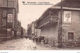 19 .n° 108333 .  Bort . Hotel Du Cantal .balcon Ou Fut Prisonnier Le Marechal Ney . - Autres Communes