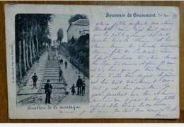 CPA SOUVENIR DE GRAMMONT - 1899 - ESCALIERS DE LA MONTAGNE - Other