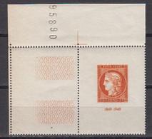 France 1949 Yvert 841 ** Neuf Sans Charniere. Coin De Page. Exposition Philatelique Internationale De Paris - Neufs