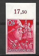 1290 ALLEMAGNE-III REICH-1945 émis En L'honneur Des SA Et SS YT 826 NON DENTELE ET BORD NUMEROTE Neuf ** - Nuovi