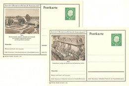 720  Ludwig Van Beethoven: 2 Entiers (c.p.) D'Allemagne, 1960 - Beethoven House, Bonn: Stationery Postcards From Germany - Music