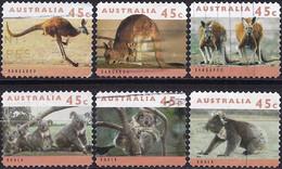 Australia 1994 - Kangaroos And Koalas ( Mi 1408/13 - YT 1368/73 ) Complete Set - Unclassified