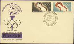 MEXICO OLYMPICS- 1968- FDC- INDIA-1968-SCARCE- FC2-121 - Estate 1968: Messico