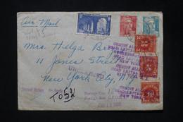 ETATS UNIS - Taxes De New York Sur Enveloppe De France En 1950 Et Renvoyé - L 80193 - Briefe U. Dokumente