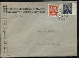 Böhmen Und Mähren Dienst D17,14 Brief Bezirksjugendfürsorge Neupaka 7.12.44 - Storia Postale