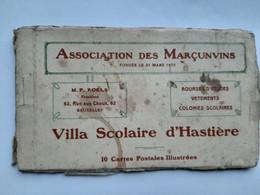 Carnet Hastière Villa Scolaire Association Des Marçunvins - Hastiere