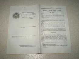 Bulletin Des Lois:Répression Du Crime De La Traite Des Noirs.Convention De Poste France Belgique.Pont Suspendu Vicq.. - Gesetze & Erlasse