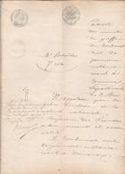 VP 8 FEUILLES - 1863 - JUGEMENT AU TRIBUNAL DE TREVOUX - CHALAMONT - LOYES - MEXIMIEUX - Manoscritti