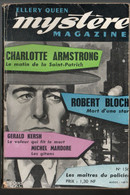 Mystère Magazine  Revue N: 156  Récies Policiers De Janvier 1961 - 1900 - 1949