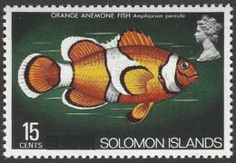 "British Solomon Islands. 1975 Definitives. ""British"" Obliterated. 15c MH. SG 293 - Salomonen (...-1978)"