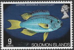 "British Solomon Islands. 1975 Definitives. ""British"" Obliterated. 9c MH. SG 291 - Salomonen (...-1978)"
