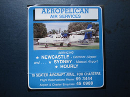 AEROPELICAN SOUTH AFRICA CARD WELCOME TICKET AIRWAYS AIRLINE STICKER LABEL TAG LUGGAGE BUGGAGE PLANE AIRCRAFT AIRPORT - Unclassified