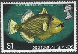 "British Solomon Islands. 1975 Definitives. ""British"" Obliterated. $1 MNH. SG 298 - Salomonen (...-1978)"
