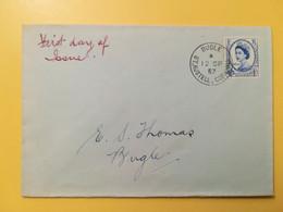 1957 BUSTA GRAN BRETAGNA GREAT BRITAIN BOLLO REGINA ELISABETTA QUEEN ELIZABETH OBLITERE' BUGLE - Covers & Documents