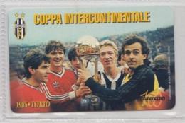 COPPA INTERCONTINENTALE 1985  (Juventus) # Scheda Telefonica Sanmarinese # Juvecentus - Sport