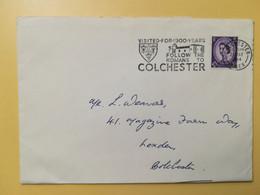 1964 BUSTA GRAN BRETAGNA GREAT BRITAIN BOLLO REGINA ELISABETTA QUEEN ELIZABETH OBLITERE' COLCHESTER - Covers & Documents