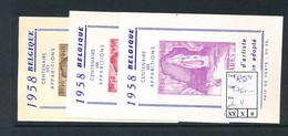 BELGIUM 1958 ISSUE COB E76 + .... - Commemorative Labels