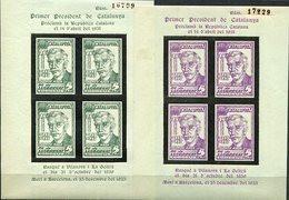 ESPAÑA   LOCALES    Pi Del Llobregat   Nº 19/20  H.B.  Dentadas-sin Charnela -914 - Viñetas De La Guerra Civil
