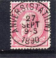 Belgie - Belgique - Capon - Nr 46 -  Anvers (Station) - 1884-1891 Leopold II