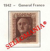 1942  GENERAL FRANCO EDIFIL 953 ** MNH LUJO LUXE TC23490 - 1931-50 Ongebruikt