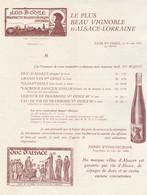 Lettre Publicité Tarif Illustrée 1/5/1933 WEISSENBURGER Vin Propriétaire Du Clos Ste Odile Par OBERNAI Bas Rhin - 1900 – 1949