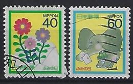 Japan 1987  Letter Writing Day  (o) Mi.1746-1747 - Gebruikt