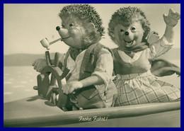 "MECKI - Hérisson - Couple En Bateau - "" Frohe Fahrt ! "" - Pipe - Bon Voyage! - DIEHL FILM - 1969 - Mecki"
