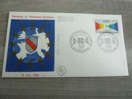 STRASBOURG - BAS-RHIN - ELECTIONS AU PARLEMENT EUROPEEN - EDITIONS J.F. COURBEVOIE - ANNEE 1989 - - Oblitérés