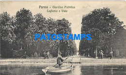 148705 ITALY PARMA EMILIA ROMAÑA GARDEN PUBLIC & BOAT POSTAL POSTCARD - Ohne Zuordnung