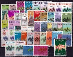 1972 - Europa CEPT - Année Complète - 21 Pays, 46 Valeurs  ** - 1972