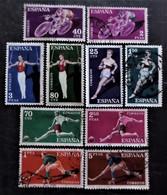 Série Complète Deportes Y&T N° 987 à 996 - 1951-60 Afgestempeld