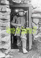 Soldat Allemand Avec Une STIRNPANZER Un Peu Basse ?? -  A3 Plastifiée - 1914-18