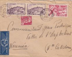 LETTRE. 25 7 46. PAR AVION. 63Fr. PARIS POUR VALLEE DE L'ORPHELIN NOUMEA NOUVELLE-CALEDONIE /    2 - 1921-1960: Periodo Moderno