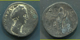 SESTERCE DE FAUSTINE MERE - EPOUSE D'ANTONIN LE PIEUX 138-161 Ap.JC - REVERS IUNO (JUNON) - 3. La Dinastía Antonina (96 / 192)