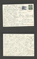 GERMANY - XX. 1938 (10 May) Frankfurt - Velden, Austria (12 May) Fkd Card + Taxed + Austrian P. Due 10gr Blue, Tied Cds. - Non Classificati