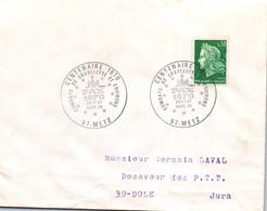FRANCE - MARCOPHILIE -  57 / METZ / CENTENAIRE COMBATS DE GRAVELOTTE ET ENVIRONS 1870 - Bolli Commemorativi