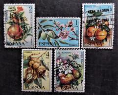 Série Complète Flora Hispanica Y&T N° 1898 à 1902 - 1971-80 Afgestempeld
