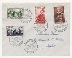 Enveloppe 1er Jour Casablanca Maroc Centenaire Naissance Du Maréchel Lyautey No. 1954. (1019x) - Cartas