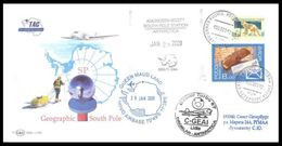 RUSSIA 2009 COVER Used ANTARCTIC FLIGHT BASLER AIRPLANE AVIATION SOUTH POLE AMUNDSEN SCOTT STATION SKI SKIING Mailed - Polare Flüge