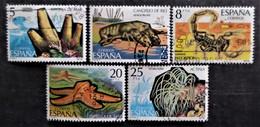 Série Complète Fauna Hispanica Y&T N° 2173 à 2177 - 1971-80 Afgestempeld