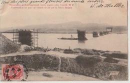 Construction Du Pont De Chemin De Fer Sur Le Fleuve Enissey - Russland
