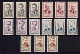 1960 * 3 Séries Complètes Neuves Sans Charnières HEROS DE LA RESISTANCE N° 1248/1252 * - Neufs