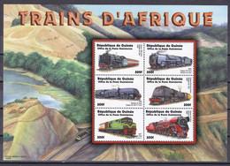 Guinea Guinée 2002 - Mi.Nr. 3601 - 3606 Kleinbogen - Postfrisch MNH - Eisenbahnen Railways Lokomotiven Locomotives - Trains