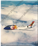 PHOTO AVION A IDENTIFIER AIR LITTORAL  25X20CM - Luftfahrt