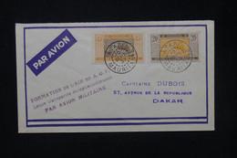 """MAURITANIE - Enveloppe De Atar Pour Dakar En 1937 Avec Griffe """" Transportée Exceptionnellement Par Avion .."""" - L 80215 - Lettres & Documents"""